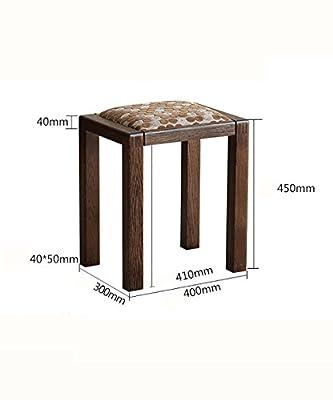 WUFENG Multifunktions Natur weiß Eiche Rechteck Abricht Tisch Hocker mit Stoff Sitz, schwarze Nussbaum Farbe, 40 * 30 * 45cm von WUFENG - Gartenmöbel von Du und Dein Garten