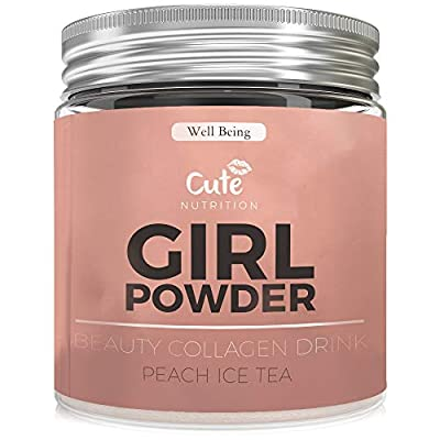 Premium Hydrolysed Bovine Collagen Powder for Healthy Hair Skin and Nails - Daily Protein Supplement - Delicious Tasting Anti Aging Drink Mix With Added Vitamins and Minerals - Feel Better Inside And Out by Cute Nutrition