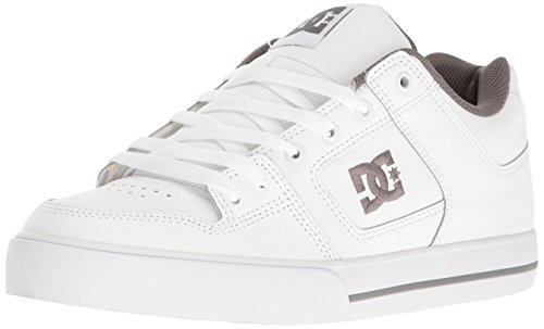 DC Shoes Pure Mens Shoe D0300660, Baskets mode homme Blanc - White/Battleship/White