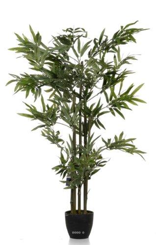 Artif-deco - Bambou artificiel 5 cannes vertes 180cm 1440 feuilles - choisissez la taille: 180 cm et 1440 feuilles