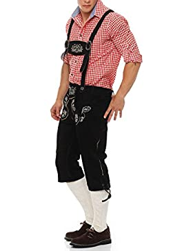 Gennadi Hoppe Herren Trachten Kniebund Lederhose Trachtenlederhose Oktoberfest Hose