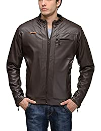 TSX Men's Faux Leather Biker Jacket