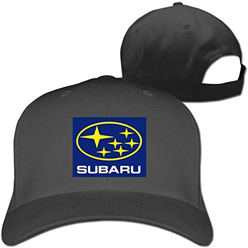 yikangshangmao2102 Funny Subaru Motors Logo Verstellbare Flache Baseballkappe für Herren und Damen, Rot