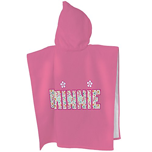 Disney Minnie 043675 Liberty Badeponcho, Baumwolle, rosa, 60 x 120 cm