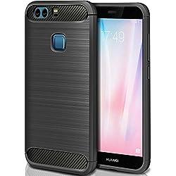 """ivencase Coque Huawei P9 Silicone Coque Ultra Fine en Gel Flex TPU Premium Flexible et Souple Etui Housse pour Huawei P9 5.2"""" - Noir"""