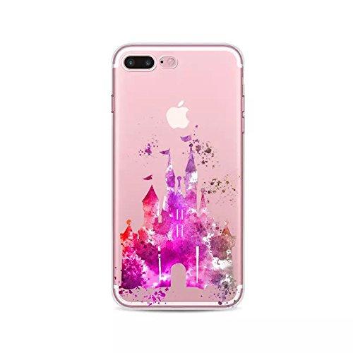 """Prinzessin Fan Art Telefon Hülle/Case Gel TPU Abdeckung für iPhone 7 (4.7"""") mit Display Schutz / EJC Avenue / Cinderella Pferd & Wagen Schloss"""