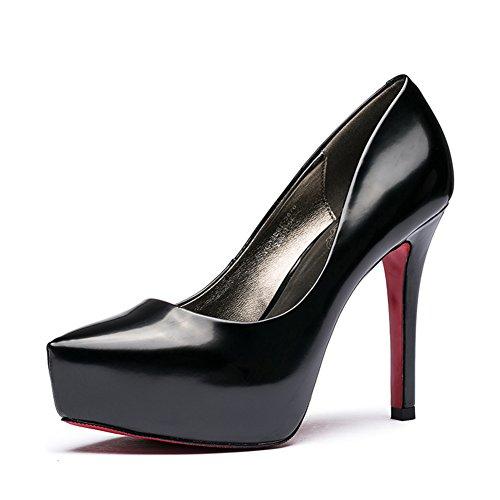 Vernice signora poco profonda caduta moda scarpe a punta/Scarpe tacco alto a spillo-A Lunghezza piede=24.3CM(9.6Inch)