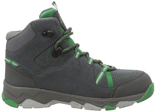 Jack Wolfskin Mtn Attack 2 Cl Texapore Mid K, Chaussures de Randonnée Hautes Mixte Enfant Gris (Leaf Green)