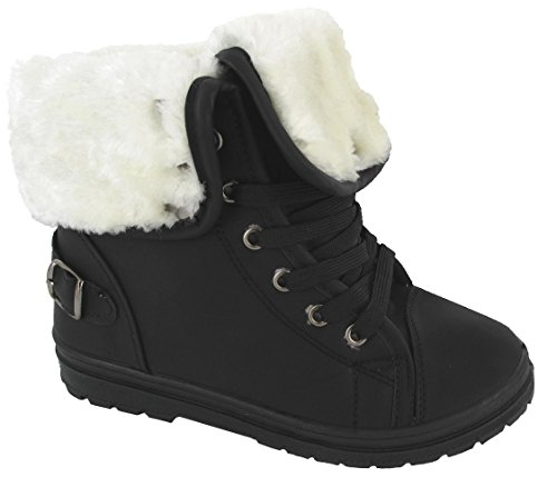 new-ladies-faux-fur-grip-sole-womens-winter-ankle-boots-trainers-shoes-39-eu-6-uk-black