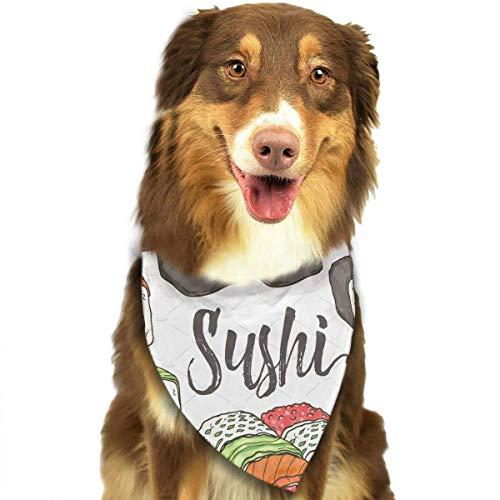 Gxdchfj Sushi Seamless Fashion Dog Bandana Pet Accessories Easy Wash Scarf -