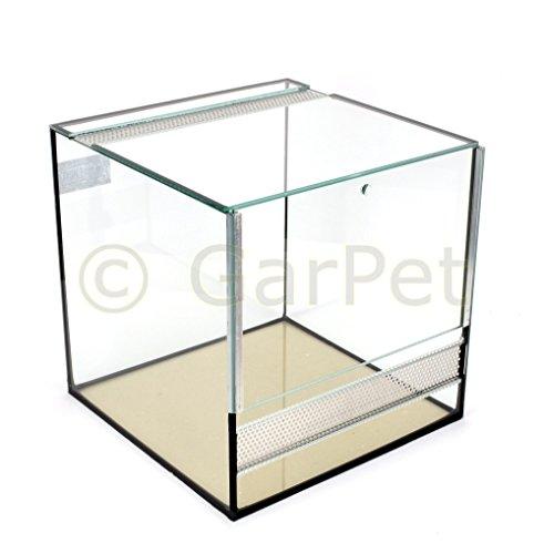 Glas Terrarium 30x30x30 Glasterrarium Belüftung Reptielien Fall Guillotine Tür