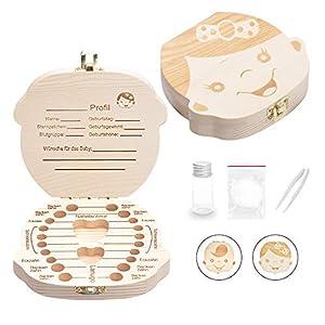LATTCURE Zahnbox, Milchzahndose Milchzahnbox Milchzähne Box Zahndose perfekt als kleines Geschenk Jungen Mädchen…