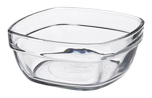 Duralex - Coupelle Carrée 9 Cm Lys Transparent - Lot de 6