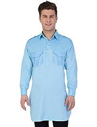 Veera Paridhaan Blue Colour Men's Kurta with Pocket