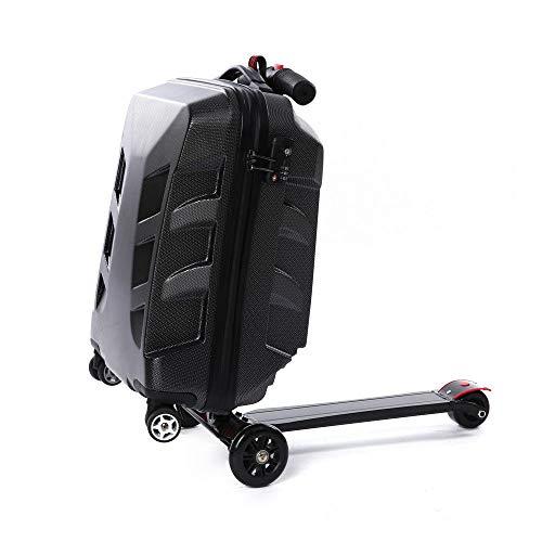 Valigia 21 pollici, Trolley Bagaglio a Mano valigie Valigia trolley multifunzione tronco scooter Skateboard suitcase