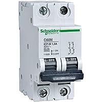 Schneider Electric 11936 Interruptor Automático Magnetotérmico 2P, 20A, 6Ka, 400 V