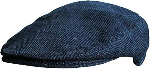 Mens Corduroy Flat Caps (59 cm, Navy)