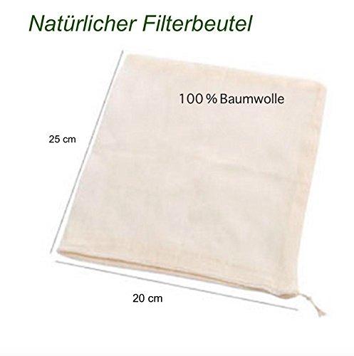 Sacchetto filtro in 100% cotone, Kilo-Panni di per alimenti (mandorla