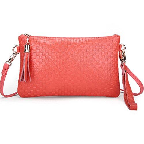 Telefono Pacchetto Borsa Tracolla MEI Ms. Messenger Bag,Black watermelonred