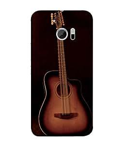 PrintVisa Designer Back Case Cover for HTC 10 :: HTC One M10 (The Cute Guitar In Colourful Design)