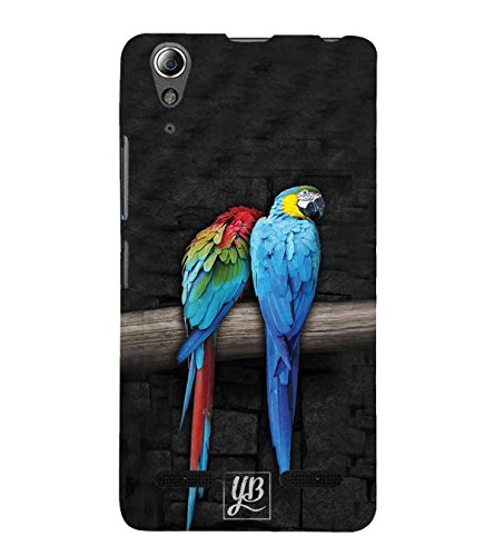 YuBingo Designer Printed Plastic Mobile Back Case Cover Panel for Lenovo A6000 : A6000 Plus ( Parrots Sitting A Branch )