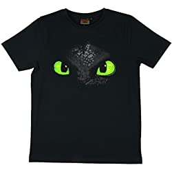 Dreamworks Dragones Camiseta Desdentao Toothless Cara, (3 - 3 años 104-110)