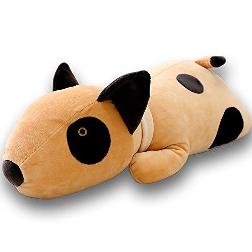 CHICOLY Entzückender Bullterrier-Hund großes umarmendes Kissen-weiches Plüsch-Spielzeug-angefüllte Tiere -
