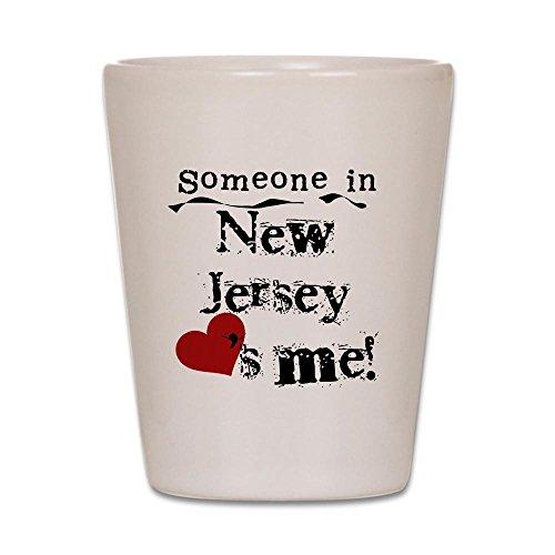 CafePress-Someone in New Jersey-Schnapsglas, Einzigartige und Funny Shot Glas weiß (Glas Shot Jersey)