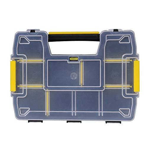 oppelorganizer Werkzeugbox leer STST1-71197 - Stapelbarer Werkzeugkasten mit entnehmbare Einsätzen & kombinierbar mit bis zu zwei weiteren Organizern ()