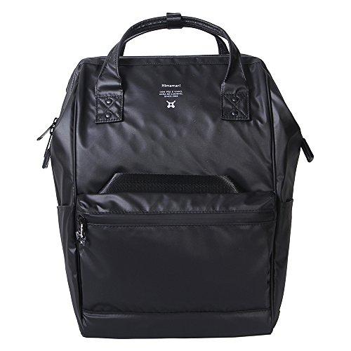 Himawari Polyester Laptop Daypack Vintage Schultertasche Für 13-Zoll Laptop (Schwarz-PU)