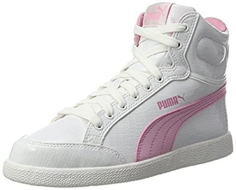 Puma Unisex-Kinder Ikaz Mid Serpent Jr High-Top, Weiß (Puma White-Prism Pink 07), 36 EU