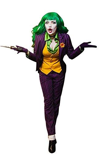 Kostüm Gauner - MIMIKRY Gauner Damen-Kostüm Jacket Weste Hose Bluse Gotham, Größe:S