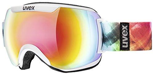 Uvex Skibrille Downhill 2000 White Dl/Litemirror Rainbow, One Size