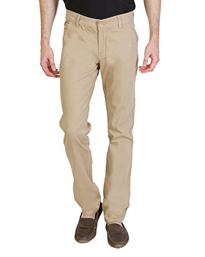 Bloos Jeans Men's Chino Trousers (101005, Cream, 34)