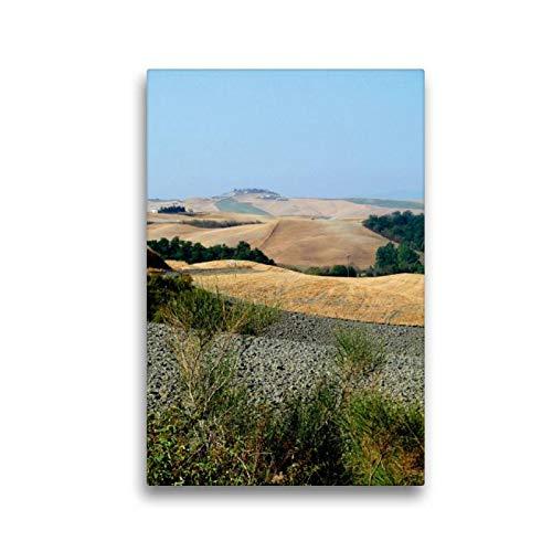 Calvendo Premium Textil-Leinwand 30 cm x 45 cm hoch, Crete | Wandbild, Bild auf Keilrahmen, Fertigbild auf echter Leinwand, Leinwanddruck: In der Toskana Orte Orte - Toskana Ferienhaus