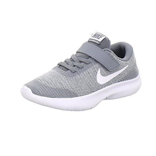 Nike Jungen Flex Experience RN 7 (PSV) Laufschuhe Grau (Wolf White/Cool Grey 003), 35 EU (Weiße Nike Boys Sneakers)