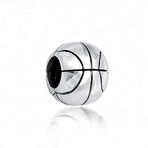 Basketball Charms 925 Sterling Silver Sport Charm Bead fit for European Charms Bracelet
