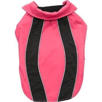 petco-pink-schwarz-reflektierende-nylon-jacke-medium-large