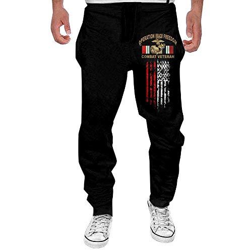 Hat New Operation Iraqi Freedom OIF Marine Corps EGA Veteran Mens Fit Joggers Jersey Sweatpants for Gym Training (Marine Corp Jersey)