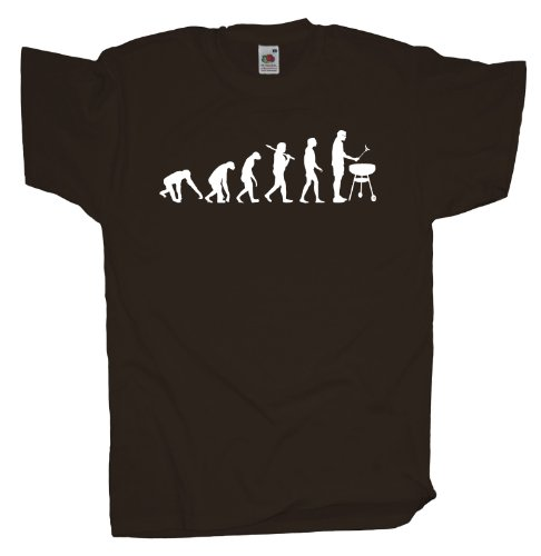 Ma2ca - Evolution - Griller Grillmeister T-Shirt Chocolate