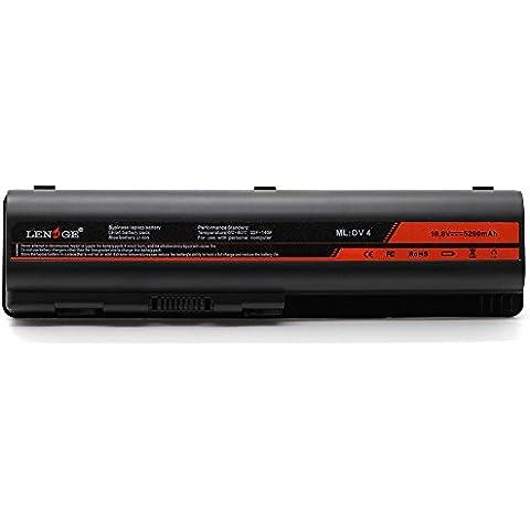 LENOGE 6-Cell batería del ordenador portátil para DV4-1000 DV4-2000 DV5-1000 Pavilion DV6-1000 DV6-2000 CQ50 CQ60 CQ70 G50 G60 G60T G61 G70 G71 Series, Fits P/N 484170-001 HSTNN-LB72 EV06