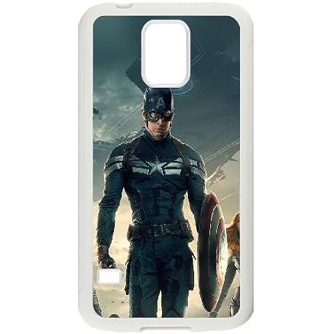 Samsung Galaxy S5 Cell Phone Case White_Captain A Team Film Face Vpwsg