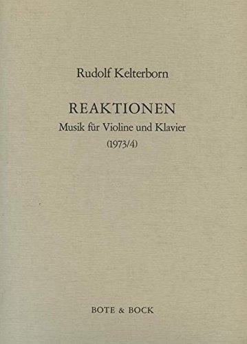 Reaktionen Musik. Partitions pour Violon, Accompagnement Piano