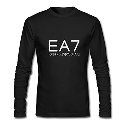 Hot EA7 Emporio Armani long sleeve Tops T shirts -  Maglia a manica lunga  - ragazzo Black M/7-8 Anni