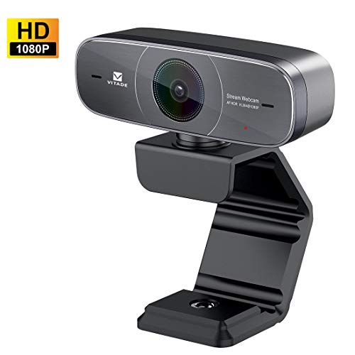 Webcam 1080P Full HD mit Stereo Mikrofon PC Kamera,Vitade 925A HDR Facecam USB Camera für Video Chat Live Streaming Kompatibel mit Mac PC Windows Skype Obs Twitch YouTube Xsplit Xbox One Hd-component-stereo