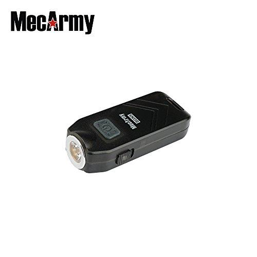 MecArmy SGN5 aufladbare persönliche Alarm Lampe mit 560 Lumen, Farbe:schwarz (Strobe Light Alarm)
