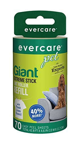 Evercare Pet Lint Refill Roller (Evercare Pet Giant Extreme Stick Lint 70 Sheet Roller Refill with Fresh Linen Scent by Evercare)