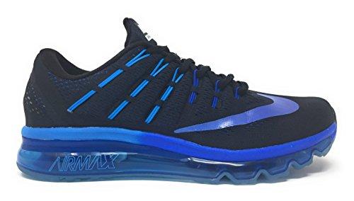 Nike Air Max 2016, Chaussures de Course Homme, Noir (Black/Multi-Color-Deep Blue Royal), 42 1/2 EU