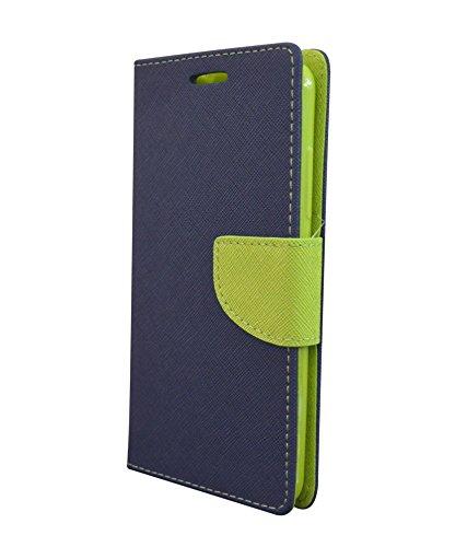 COVERNEW Mercury Flip Cover for YU Yuphoria YU5010 - Blue::Green