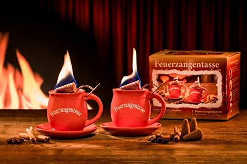 Feuerzangentasse 2er-Set rot - smart